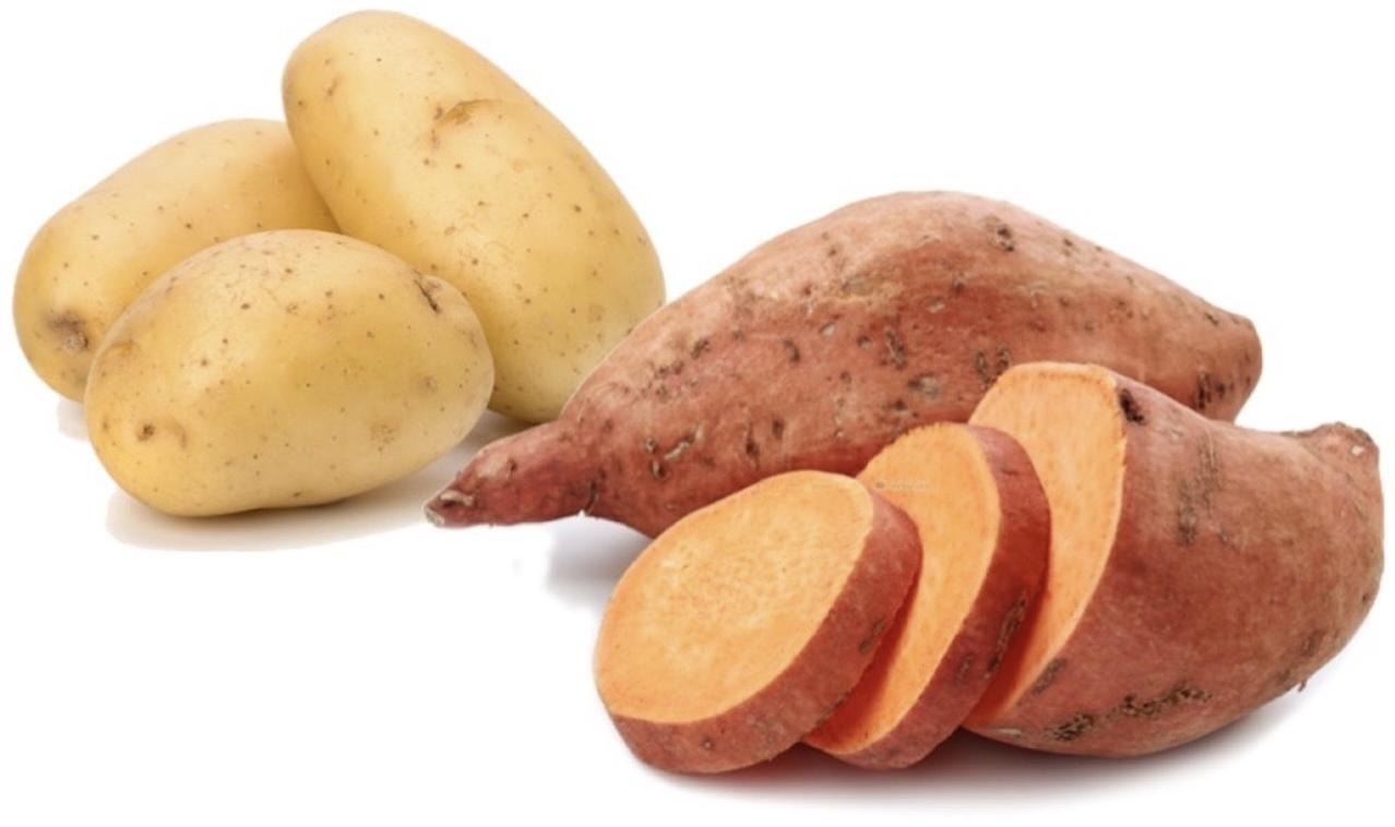 Patate douce, pomme de terre